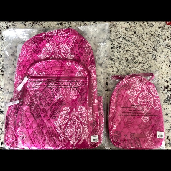 Vera Bradley backpack lunch tote SET